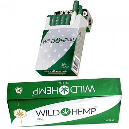 WILD HEMP CBD HEMP-ETTES TOBACCO 10 Packs of 20 Hempette's per pack