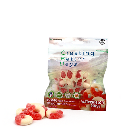 150MG Watermelon Rings (10 Pieces) Creating Better Days