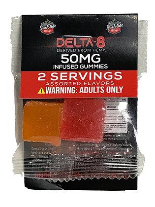 Delta-8 500MG 50MG Per Pack 25MG EA 10 BAGS Sunstate Hemp