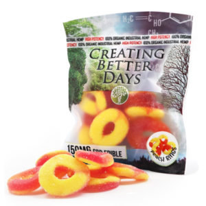 150MG Peach Rings (10 Pieces)