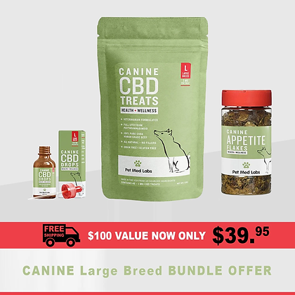 LAUNCH SPECIAL : Canine Bundle, Large Breed Pet Med Labs