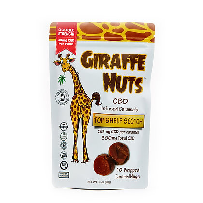 Giraffe Nuts | Top Shelf Scotch | 30mg Hemp CBD per piece - 10 Pieces Per packag