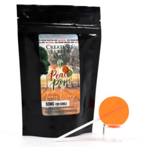 Nano-CBD Lollipop – Tangy Orange 50mg (Sugar Free)