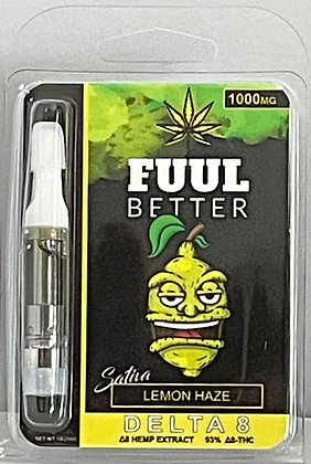 Delta-8 1000MG 1ML Lemon Haze (SATIVA) Cart FUUL BETTER