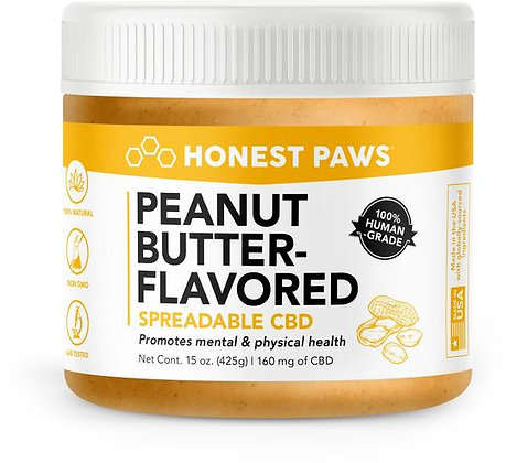 Peanut Butter-Flavored Spreadable CBD 160MG Honest Paws