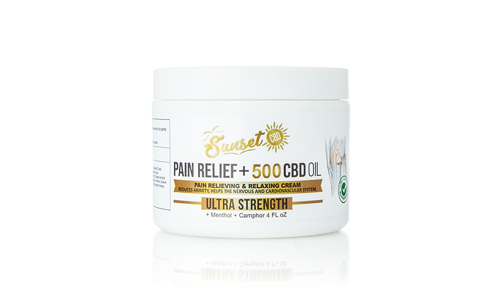 500MG CBD INFUSED PAIN RELIEF CREAM Sunset