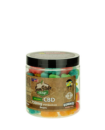 Sour Gummy Bears 750mg Full Spectrum Sunstate Hemp