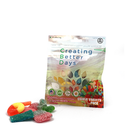 150MG Gummies Variety Pack (10 Pieces) Creating Better Days