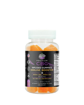 CBG/CBD Full Spectrum Immune Booster Gummies 600mg - 30pcs