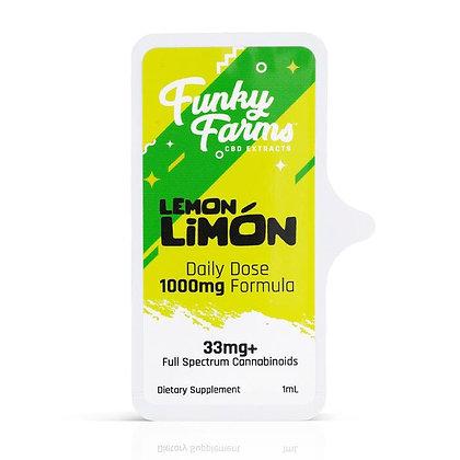 Lemon Limon Daily Dose MCT Tincture by Funky Farms CBD