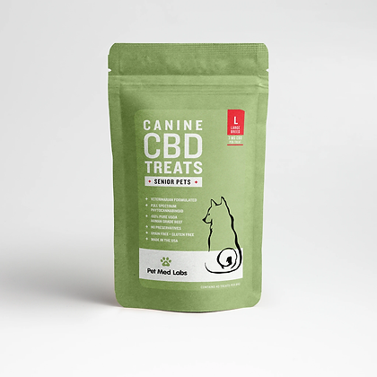 CANINE SENIOR CBD TREATS: Large Breed Pet Med Labs