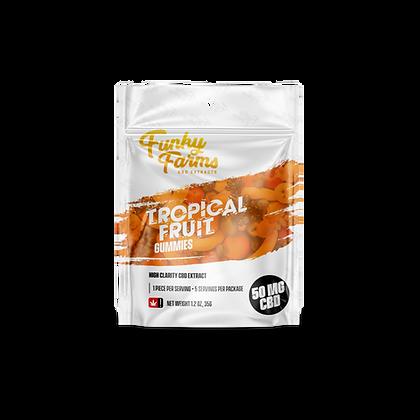 Tropical Fruit Gummies - 5 Pack (50mg)