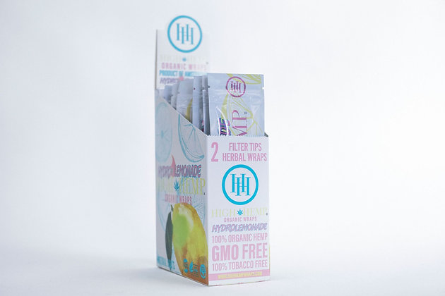 Hydro Lemonade High Hemp Organic Wraps (25 packs)