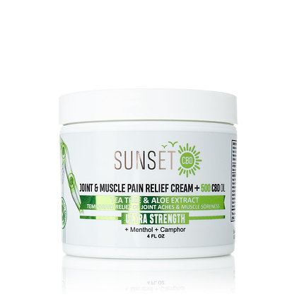 500MG CBD INFUSED JOINT & MUSCLE PAIN RELIEF CREAM Sunset