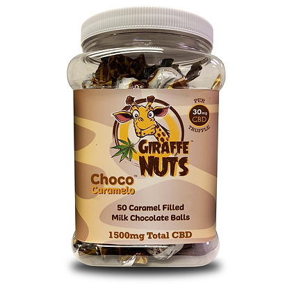 50 Ball Jar Giraffe Nuts CBD Chocolate Truffle Balls 30mg CBD per Truffle