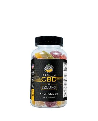 CBD Gummy Fruit Slices 48pcs 1200mg Sunstate Hemp