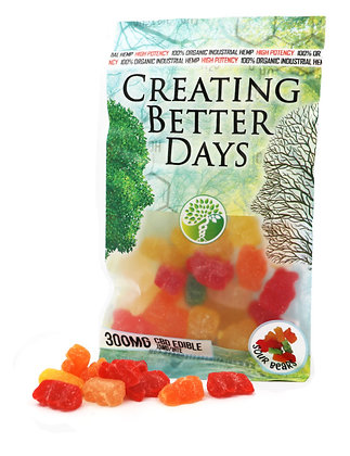 300MG Sour Gummy Bears (20 Pieces)