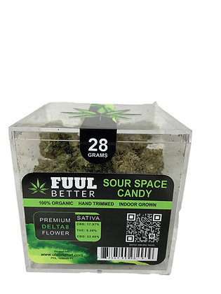 28G SOUR SPACE CANDY (SATIVA) Hand Trimmed Indoor Grown FUUL BETTER