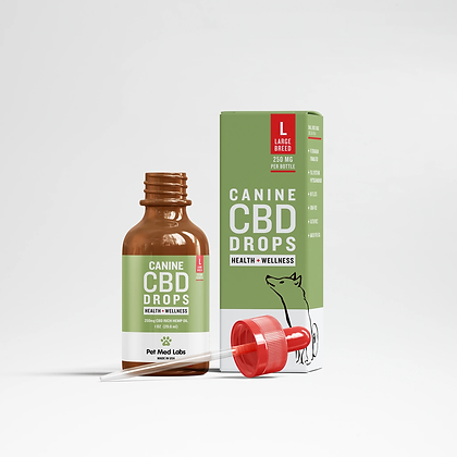 CANINE HEALTH + WELLNESS CBD DROPS: Large Breed Pet Med Labs