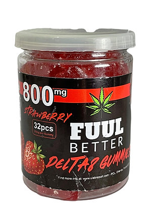 Delta-8 800MG Strawberry 32pc 25MG EA FUUL BETTER