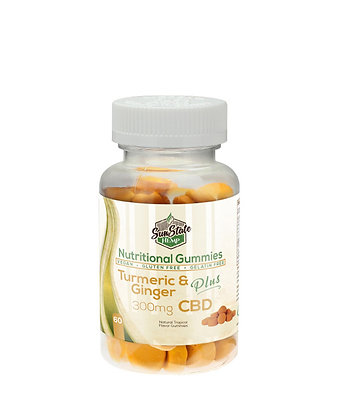 Turmeric & Ginger -300mg Nutritional Gummy