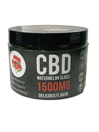 Best CBD Gummies 1500MG Watermelon Slices Strawberry Fields