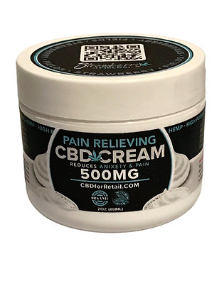 Fast Acting Pain Cream 500MG CBD 2oz Strawberry Fields