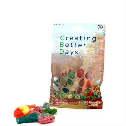 300MG Gummies Variety Pack (20 Pieces) Creating Better Days