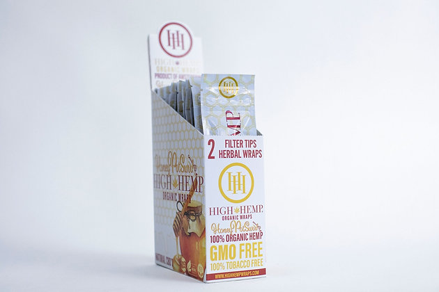 Honey Pot Swirl High Hemp Organic Wraps (25 packs)