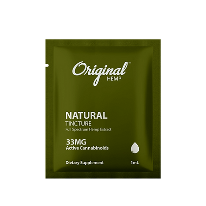Natural Tincture (33mg) | Daily Dose or 30 BAGS Original Hemp