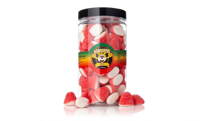 2000MG Strawberry Drops CBD Gummies Kangaroo