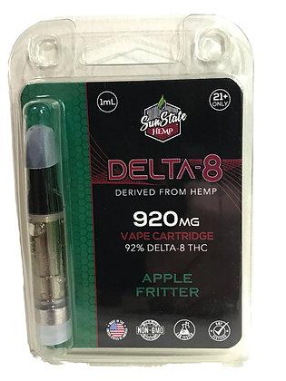 Apple Fritter Delta-8 from Hemp 920mg Vape Cartridge 1ML Sunstate Hemp