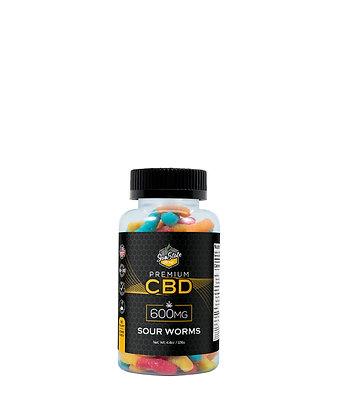 CBD Gummy Sour Worms 30pcs 600mg Sunstate Hemp