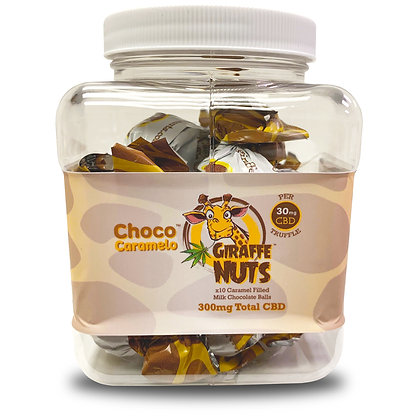 10 Ball Jar | Giraffe Nuts CBD Chocolate Truffle Balls | 30mg CBD per Truffle –
