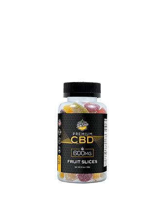 CBD Gummy Fruit Slices 24pcs 600mg Sunstate Hemp