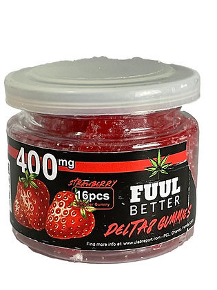 Delta-8 400MG Strawberry 16pc 25MG EA FUUL BETTER