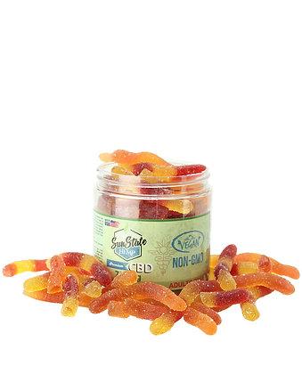 Organic Gummy Worms (Vegan) 750mg Sunstate Hemp