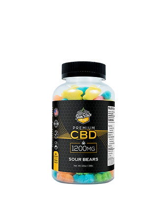 CBD Gummy Sour Bears 80pcs 1200mg Sunstate Hemp