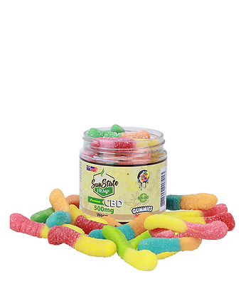 Gummy Worms 500mg Sunstate Hemp