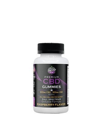CBG/CBD Full Spectrum Full Flavor Raspberry Gummy 600mg - 30 pcs