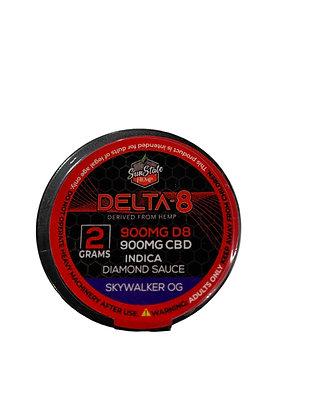 Delta-8 900mg SKYWALKER Diamon Sauce 2G Wax Sunstate Hemp
