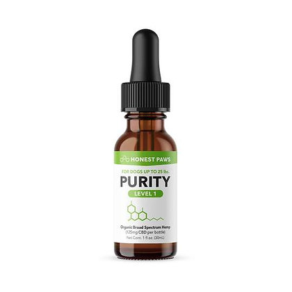 PURRITY - CBD OIL FOR DOGS Level 1 125MG Honest Paws