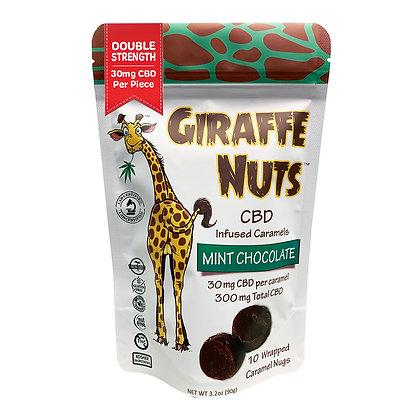 Giraffe Nuts Mint Chocolate 30mg Hemp CBD per piece 10 Pieces Per packag