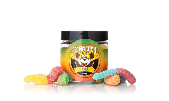 250MG Gummy Worms Kangaroo