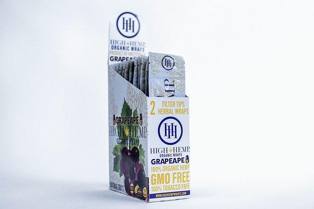 Grapeape High Hemp Organic Wraps (25 packs)