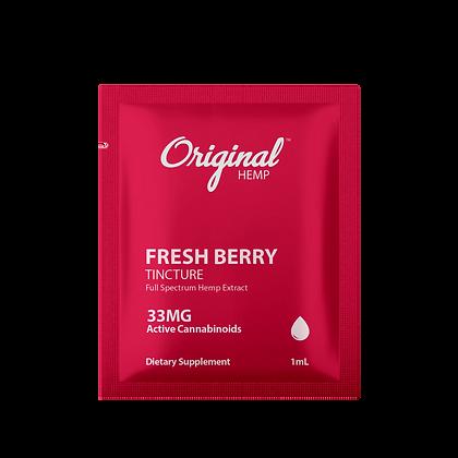 Fresh Berry Tincture (33mg) | Daily Dose or 30 BAGS Original Hemp