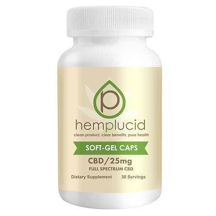 Hemplucid Soft-gel 750mg 25MG CBD each capsule