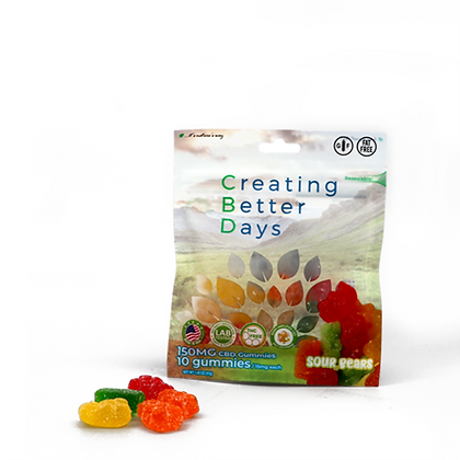 150MG Sour Gummy Bears (10 Pieces) Creating Better Days
