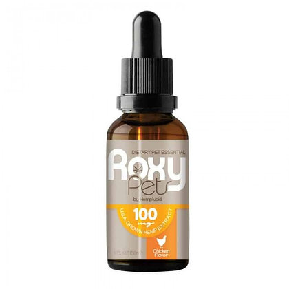 ROXY PETS FOR DOGS - FULL SPECTRUM CBD BONDED TO HEMP SEED OIL 100MG