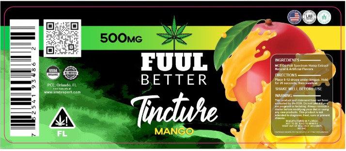 500MG Mango Delta-8 Oil Tincture FUUL BETTER